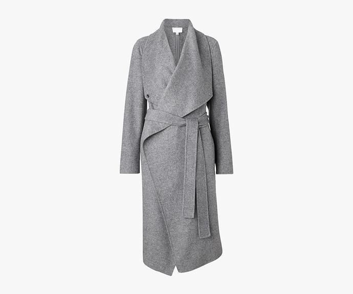 [Witchery Wrap Blanket Coat](http://www.witchery.com.au/shop/woman/clothing/jackets-and-coats/60178141/Wrap-Blanket-Coat.html), $399.95.