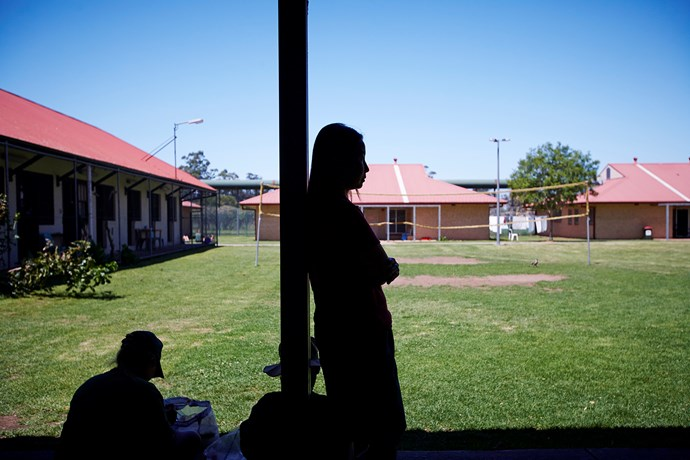 Josephine, who was dux of her school before going off the rails, has a pensive moment at Emu Plains Correctional Centre. PHOTO: Nick Cubbin.