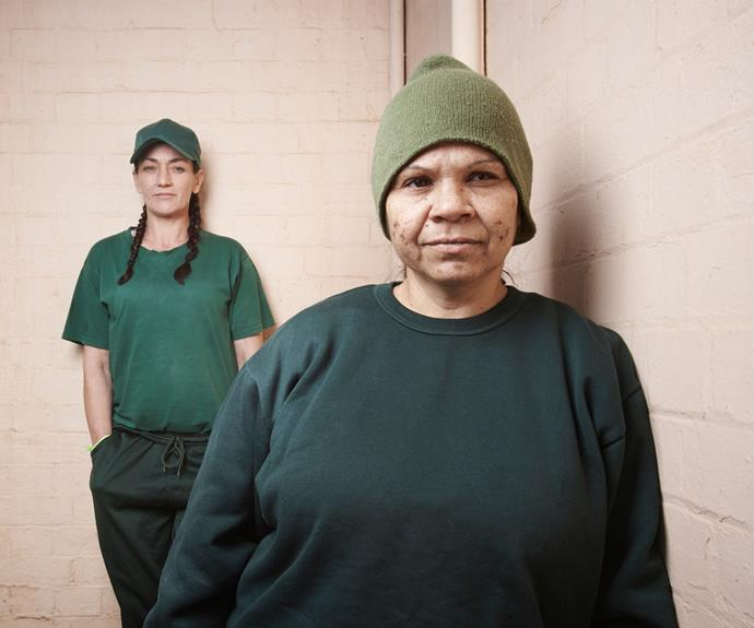 Allison (background) and Dellah (foreground), inmates at the high-security Silverwater Women's Correctional Centre in Sydney. PHOTO: Nick Cubbin.