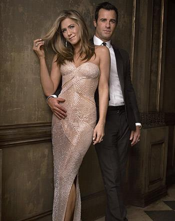 Jennifer Aniston with fiance Justin Theroux Pack at Vanity Fair Oscar Bash.