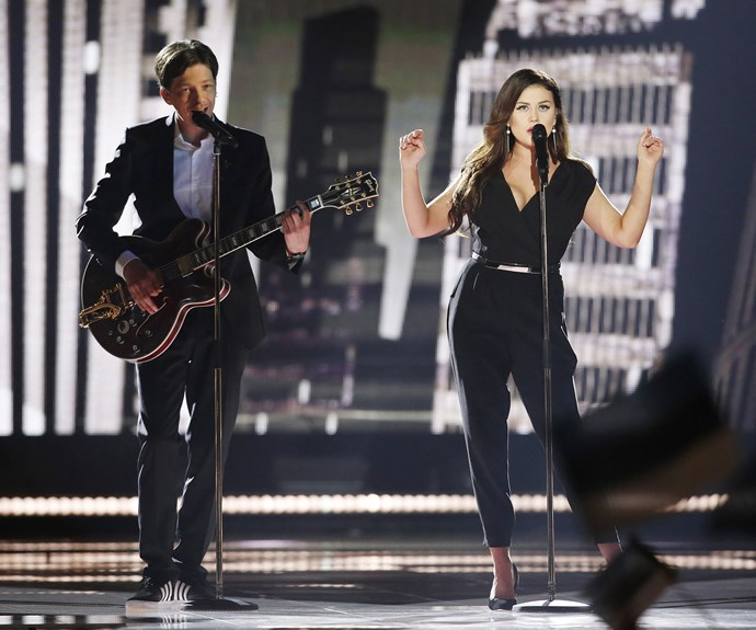 **6th place: Estonia** Just missing out on a top 5 spot, Estonia's Elina Born & Stig Rästa were the first to break out of the 'power ballad' mould, with their funk/blues song, *Goodbye To Yesterday*. Featuring some tricky guitar work and a solid bass line, the duet was a nice little break.