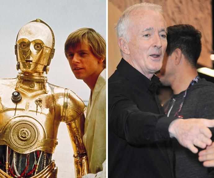 Anthony Daniels: Daniels played uptight droid C-3PO in the original Star Wars trilogy and has been making a living out of it ever since, reprising the role for radio, TV, theme park rides, video games, audio books and the more recent Star Wars films. He will also appear in Star Wars: The Force Awakens.