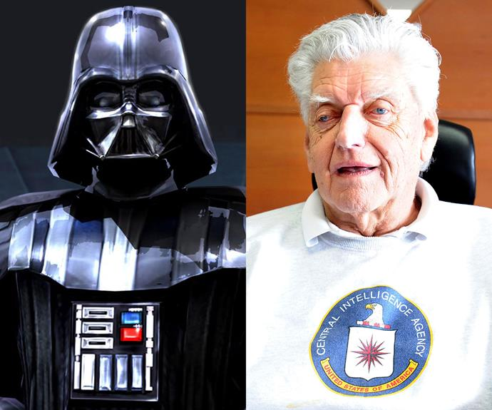 David Prowse: Prowse playing Darth Vader in the original trilogy, although the character was voiced by James Earl Jones. He continues to make a living from being Darth to this day, travelling around the world to various sci-fi conventions.