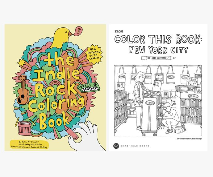 [The Indie Rock Colouring Book by Andy J. Miller](http://www.yellowbirdproject.com/products/indie-rock-coloring-book).