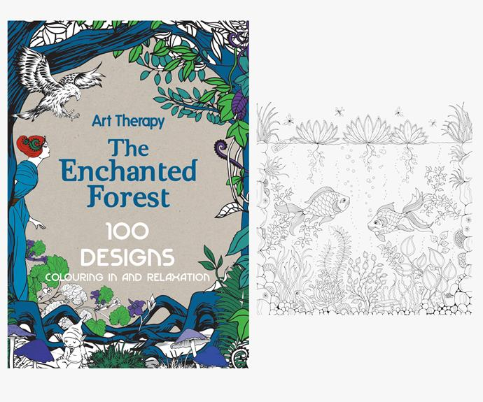 [Art Therapy: The Enchanted Forest by Martha Mulkey](http://www.amazon.com/Art-Therapy-Enchanted-Colouring-Relaxation/dp/1910254045).