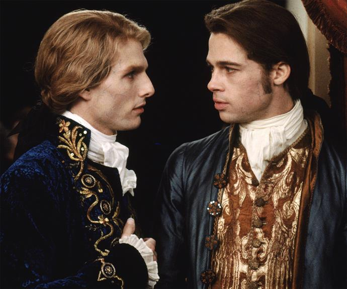 Making vampires decidedly sexy again was the work of Brad Pitt and Tom Cruise in **Interview with a Vampire**, their dashing costumes and long hair made the audience swoon - despite the blood-sucking horror.