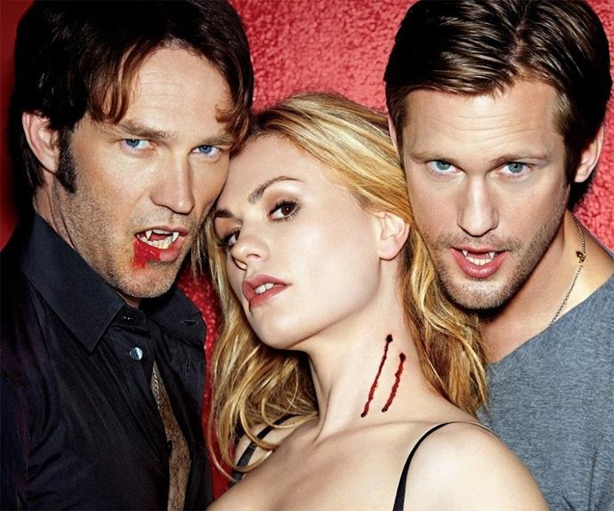 **True Blood** however was a stellar success. Wedged either side of southern belle, Sookie, Eric and Bill were represented a new age of sexy, southern vamps.
