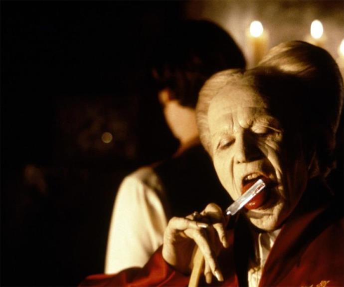 Gary Oldman went the opposite way for his version of **Dracula**. With coiffed hair and powdered white skin, his grossly terrifying portrayal was a memorable one.