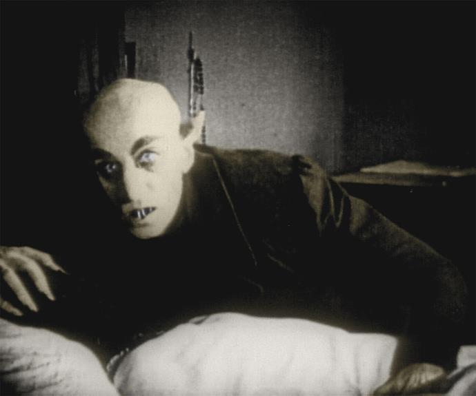 1922's **Nosferatu** also made a chilling impression on viewers. It was the first time a vampire had been depicted as a ghoulish monster, rather than a handsome man.
