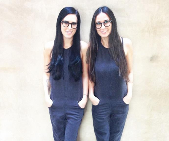 Demi Moore and Rumer Willis are #twinning.
