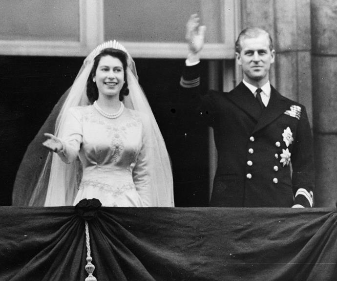 Elizabeth and Philip were married on 20 November, 1947 at Westminster Abbey. Their wedding took place at the end of the second world war and Elizabeth required ration coupons to buy the material of her dress.