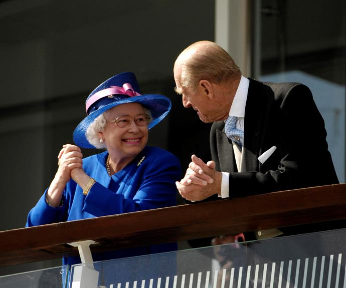 The Queen is obviously still enamoured by her Prince.