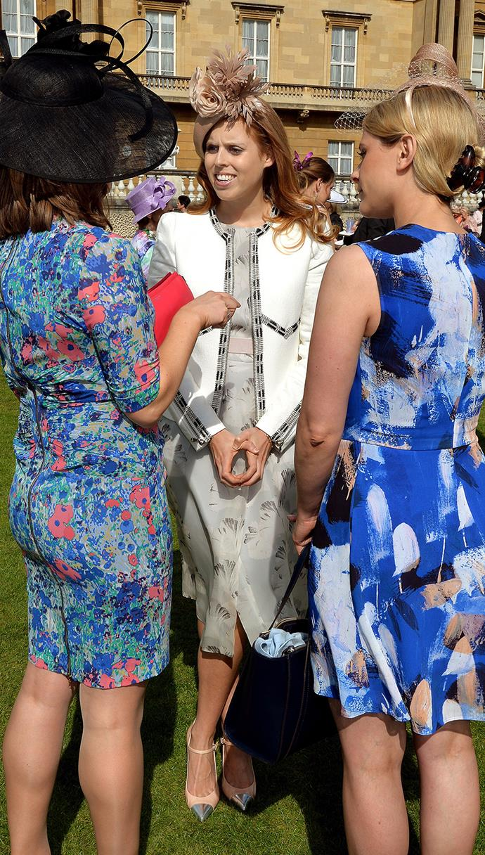 Looking chic, Princess Beatrice also came to party. She wore a delicate floral dress.