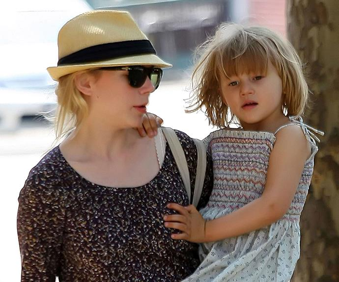 Heath's daughter Matilda Ledger, pictured here with her mother Michelle Williams, is now almost 10.