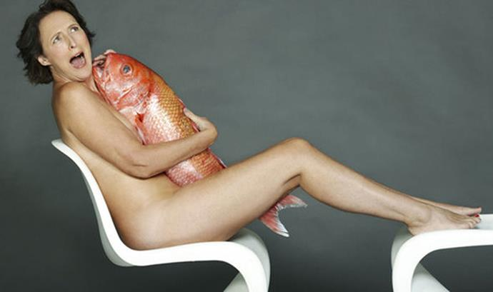 Fiona Shaw. Photography by John Swannell for Fishlove.