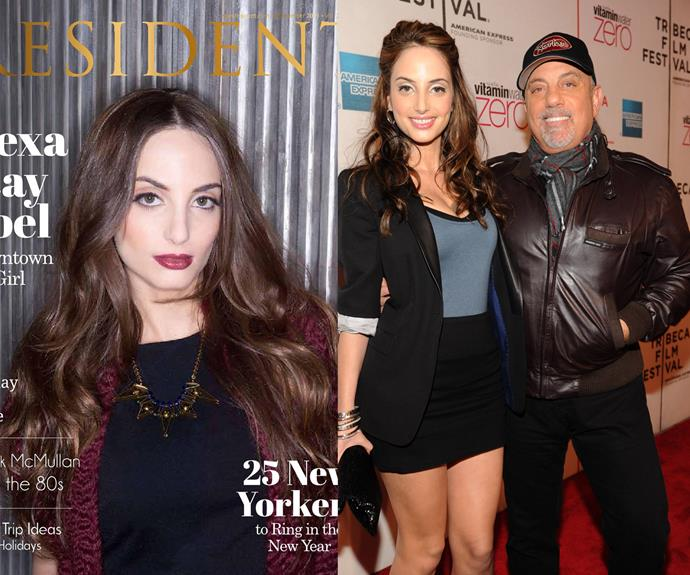 Taking after her famous father, Billy Joel, Alexa Ray Joel has gone into singing. She released her first album in 2011. And if you're wondering where she got those amazing legs from - that would be from her supermodel mother, Christie Brinkley.