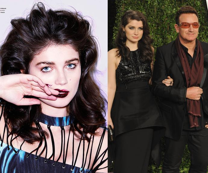 Eve Hewson (born Memphis Eve Sunny Day Hewson) is the daughter of Irish rocker, Bono. She's recently tried her hand at acting, but is now mainly sticking to university.