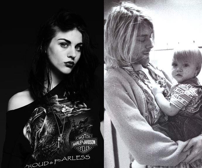 Frances Bean Cobain is the daughter of tragic Nirvana singer, Kurt Cobain, who committed suicide when she was a baby.