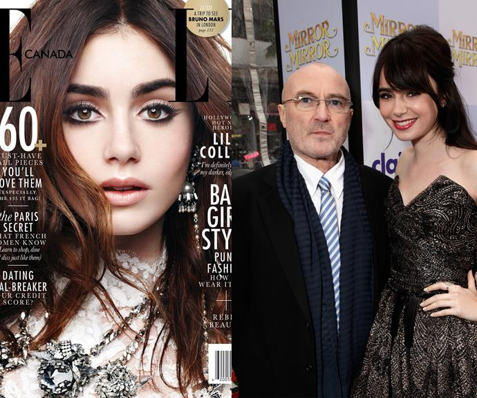 Phil Collins' little girl, Lily, went the way of acting. Her roles in The Mortal Instruments and Mirror, Mirror have won her international fame.