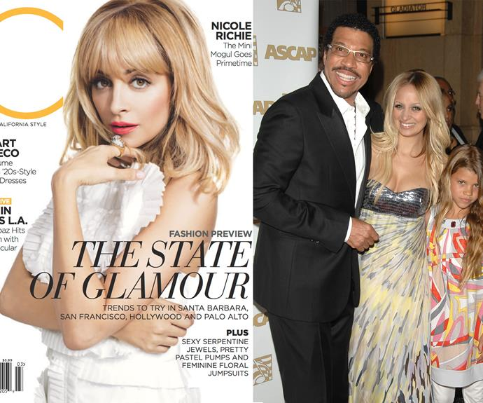 Nicole Richie may not have actually gotten the rockstar genes, as her rocking dad, Lionel Richie (Hello... is it me you're looking for?... Okay, we'll stop), is her adoptive father - but she definitely inherited the cool factor.