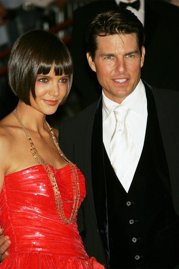Tom Cruise and Katie Holmes shared the same style early in their relationship.