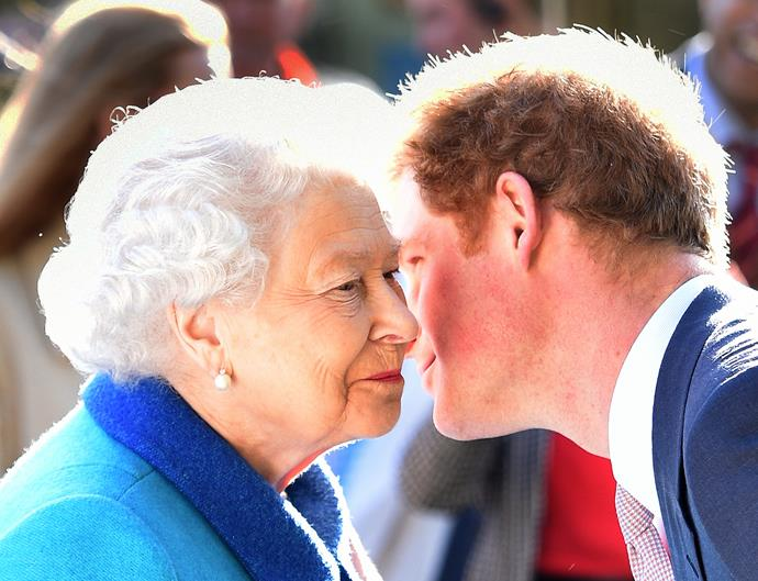 The 30-year-old looked thrilled to see his grandmother after spending over a month in Australia and New Zealand.