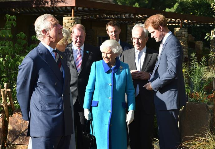 Prince Charles and Camilla joined the Queen in supporting Prince Harry at the show.