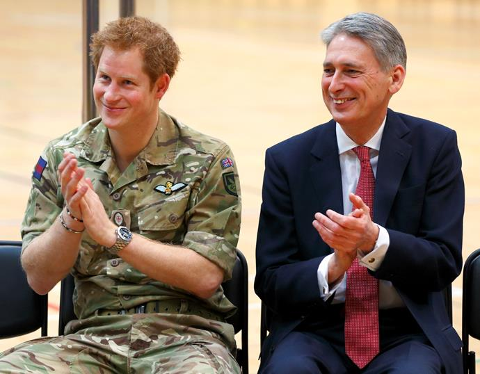 The 30-year-old supported the Invictus Games, an event championing injured soldiers, a cause close to the Prince's heart.