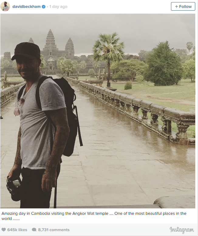 """Amazing day in Cambodia visiting the Angkor Wat temple .... One of the most beautiful places in the world ......."""