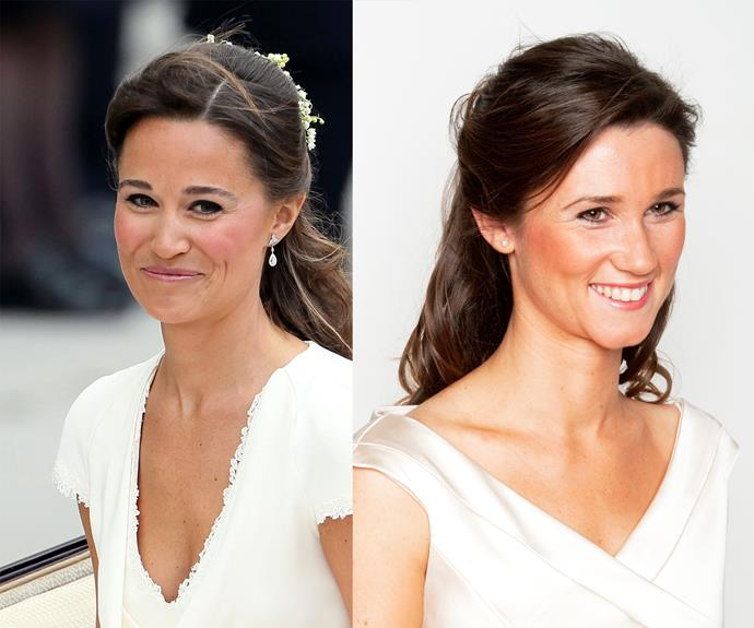 Kate's beloved sister, Pippa, stole the show in her figure-hugging dress at the Royal Wedding. What do you think of Sarah C's impression?
