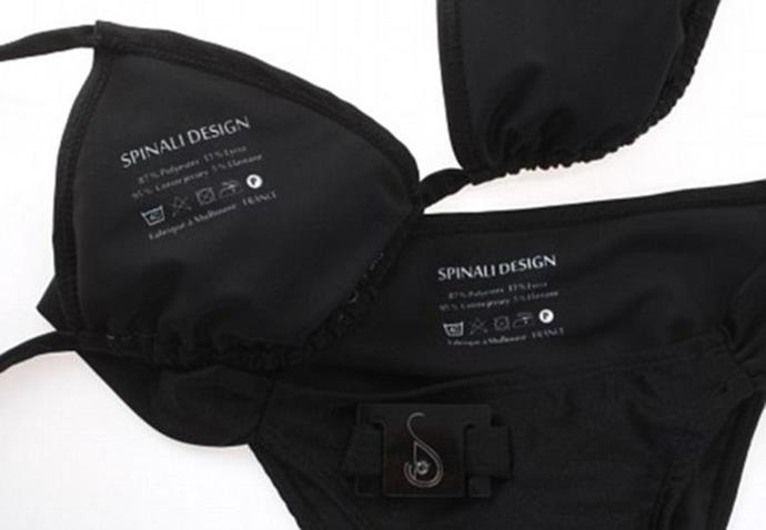 The new 'smart bikinis' from Spinali design with the UV sensor. PHOTO: Spinali Design.