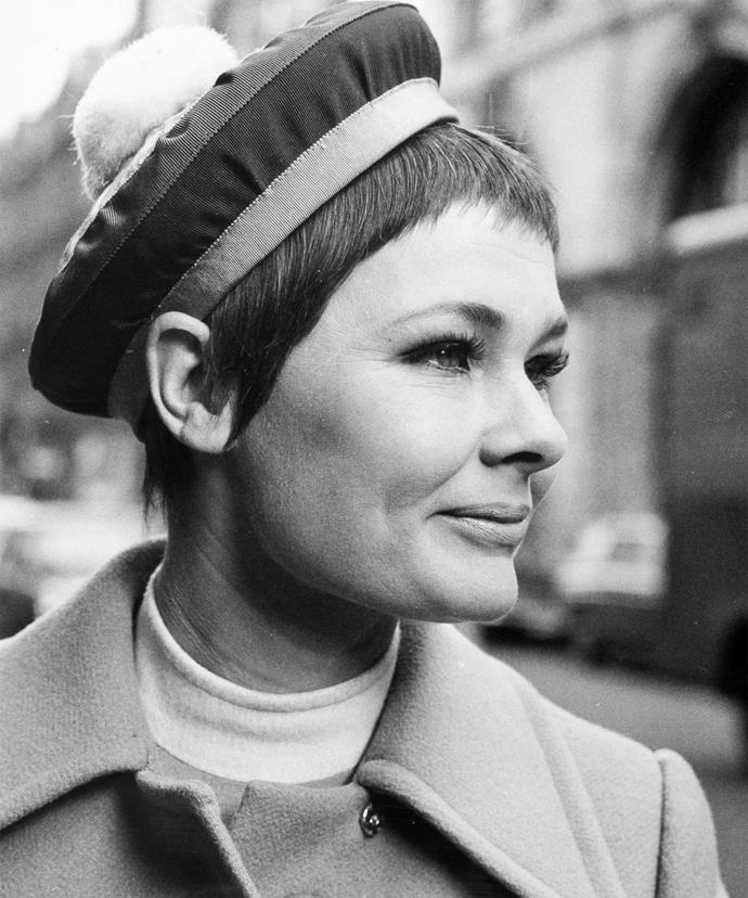 A young Judi Dench.
