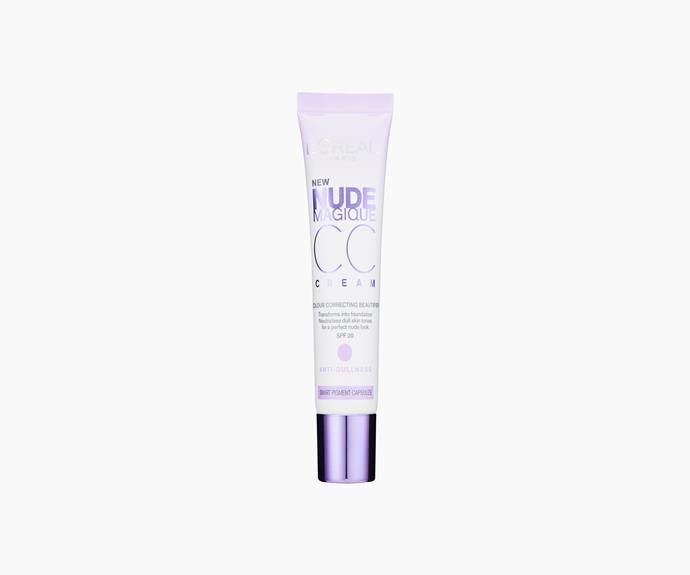 **L'Oreal PAris Nude Magique Anti-Dullness CC Cream SPF20, $26.95**