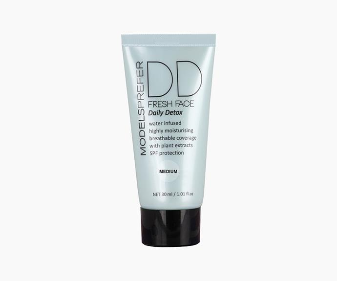 """**DD Cream** *It means: Dynamic Do It All or Daily Defence*  """"This product combines the effects of the BB and the CC creams in one,"""" says Melanie. DD creams also improve the appearance of fine lines and wrinkles.   **Models Prefer DD Fresh Face Daily Detox, $16.99**"""