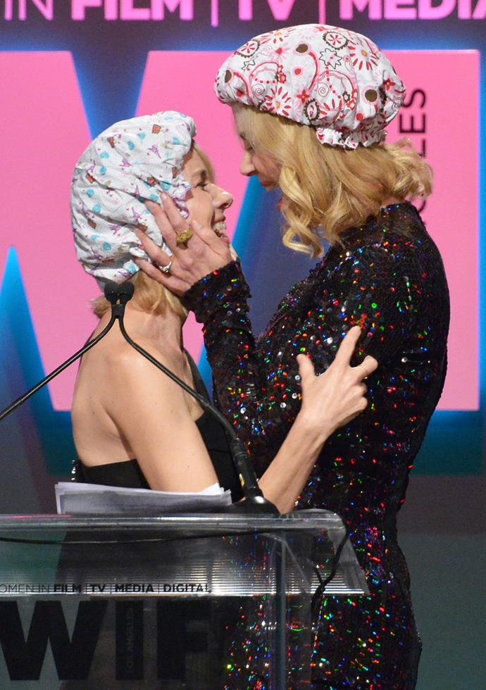 And on Tuesday, the pair got a little closer as Nicole kissed her good friend on stage.