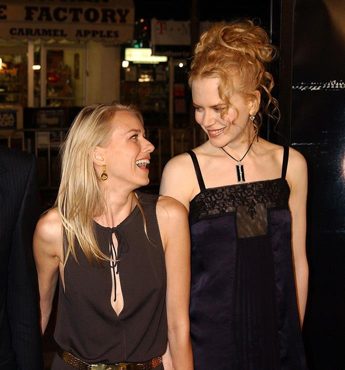 The close friends attend The Ring Premiere in late 2002.