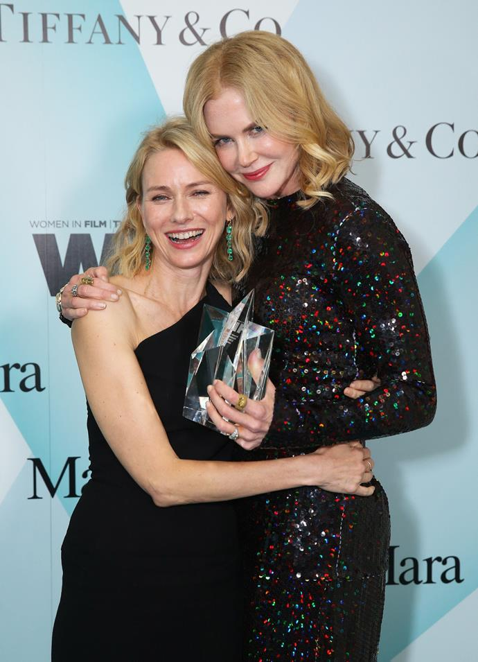 Watts appeared bemused after the incident, laughing with Kidman by her side.