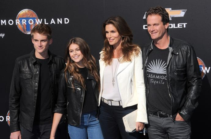 Cindy Crawford and her family.