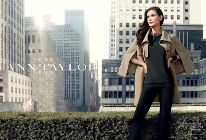 Demi Moore for Ann Taylor's Fall 2011 campaign.
