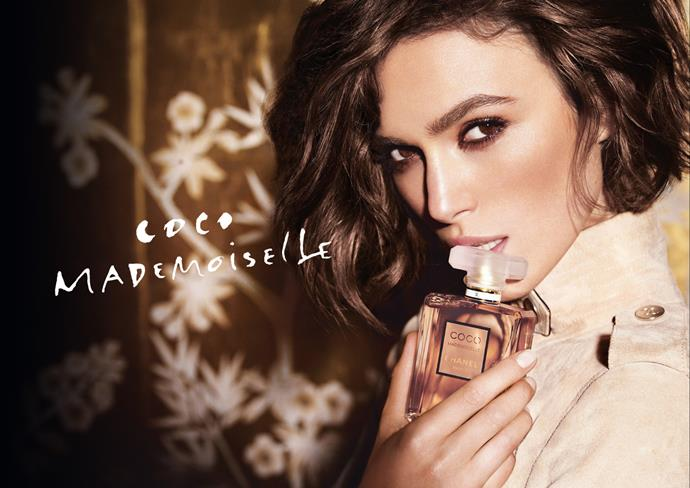 Keira Knightley for Chanel's Coco Mademoiselle fragrance.