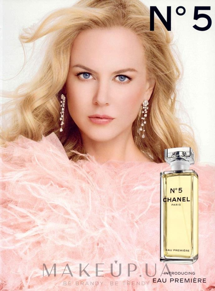 Nicole Kidman was the face of Chanel No. 5 from 2004 to 2008.
