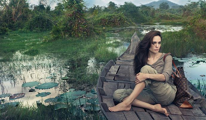 Angelina Jolie for Louis Vuitton. Picture by Annie Leibovitz.