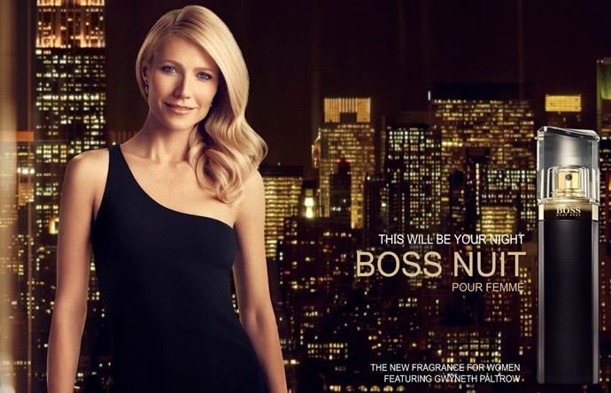 Gwyneth Paltrow for Hugo Boss.