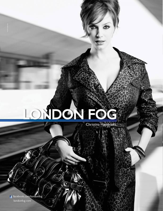 *Mad Men's* Christina Hendricks for London Fog.