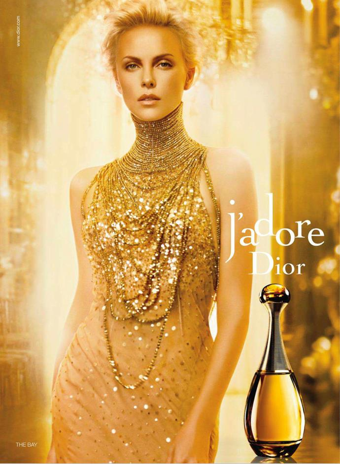 Charlize Theron for Christian Dior's J'adore fragrance.