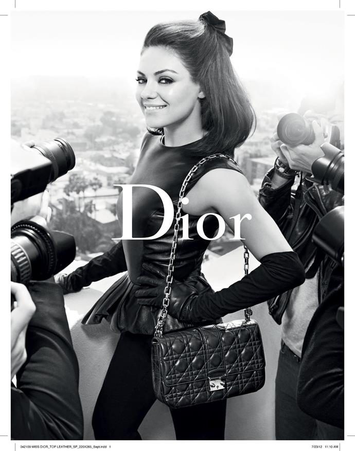 Mila Kunis for Dior.