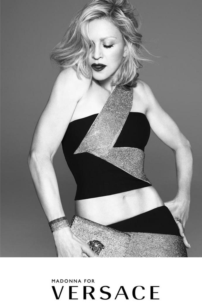 Madonna for Versace.