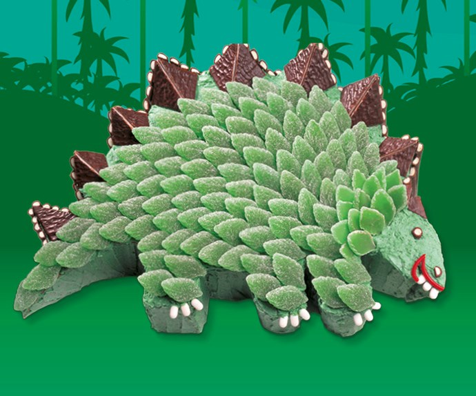 Stella Stegosaur from [BUMPER BOOK OF KIDS CAKES.](https://www.magshop.com.au/bumper-book-kids-birthday-cakes)