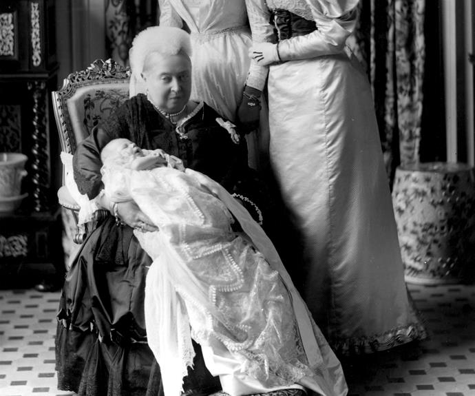 Queen Victoria with her great-grandson, the future King Edward VIII.
