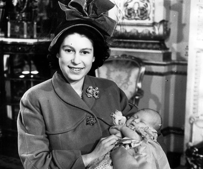 And with her own first born, Prince Charles.
